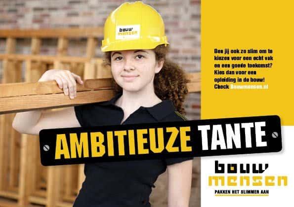 Bouwmensen campagne door Kneh Creatief