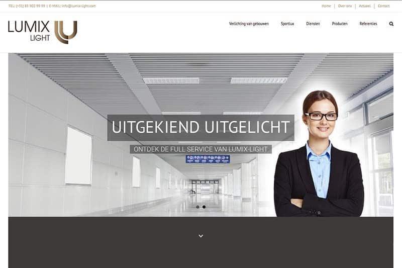 Ontwerp logo en website Lumix