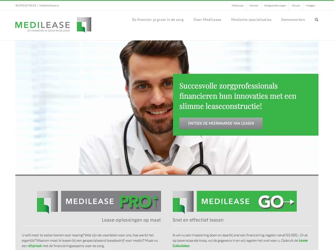 Kneh ontwerpt website medilease