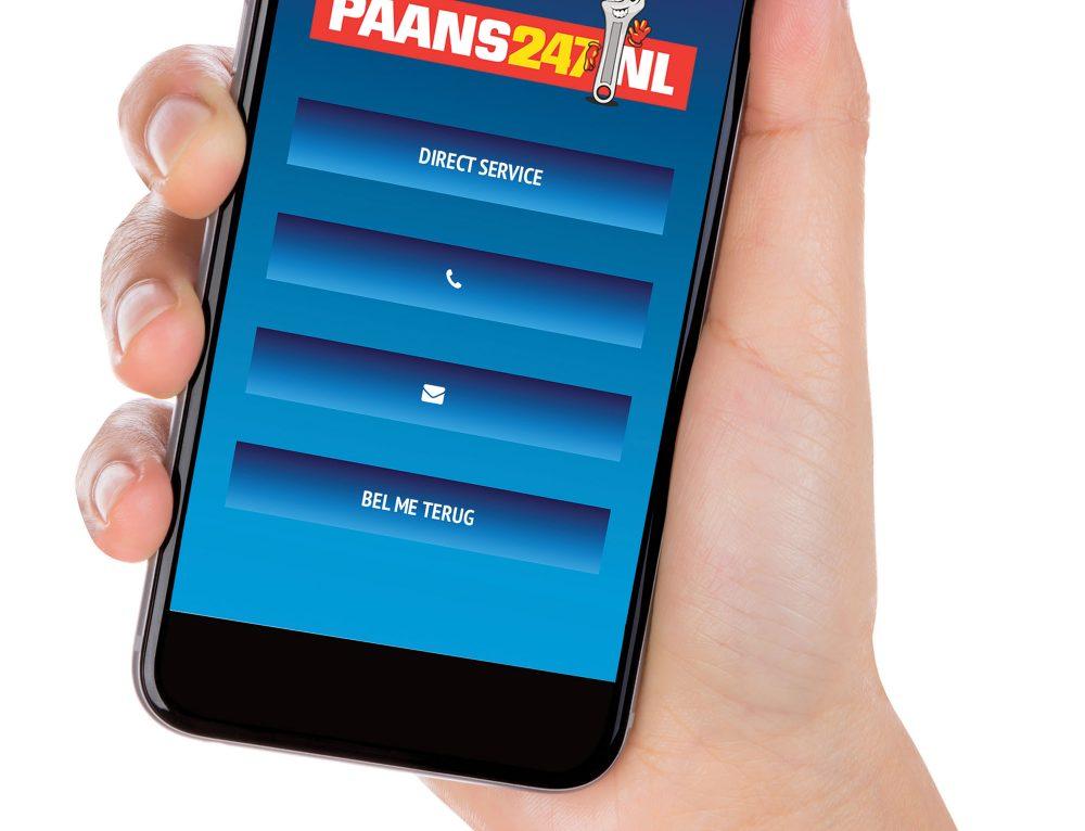 Paans247, website optimaal voor mobiel