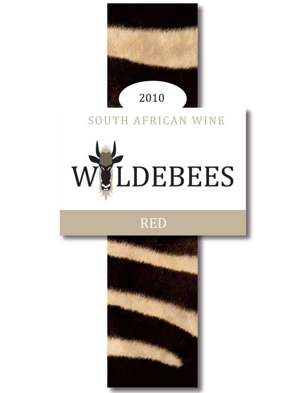 Wijnetiket Wildebees ontwikkeld door Kneh
