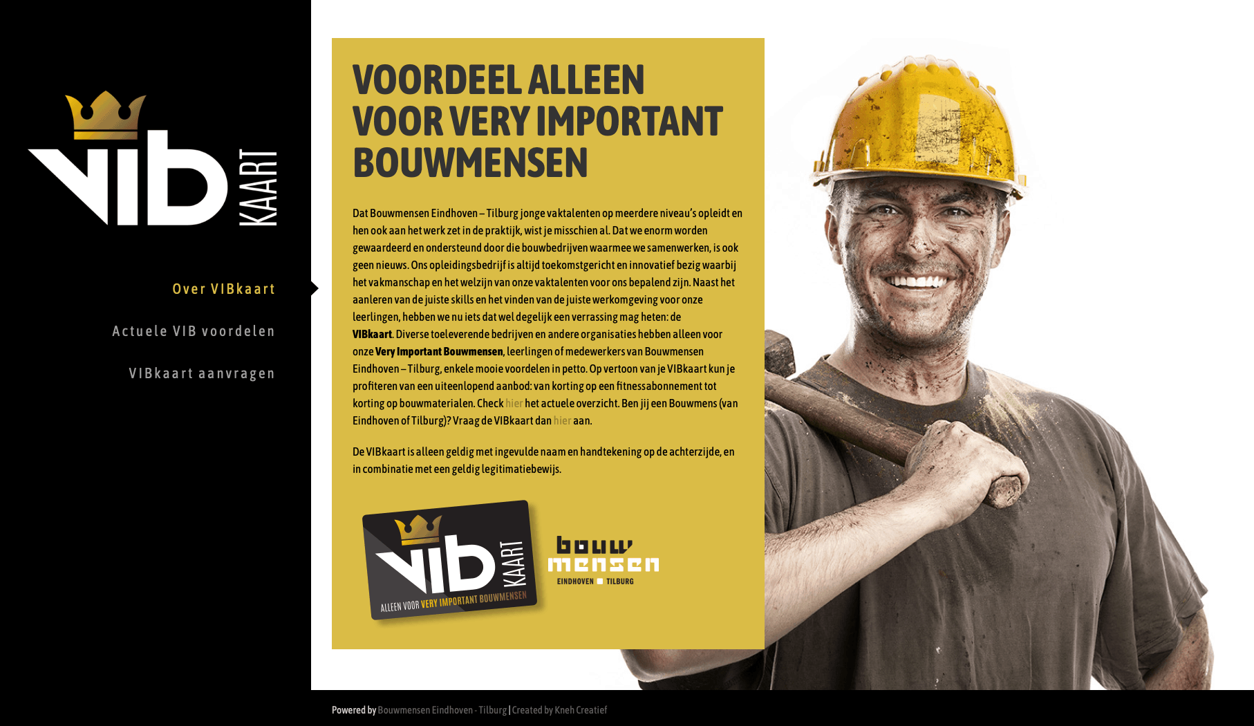 VIBkaart website door Kneh