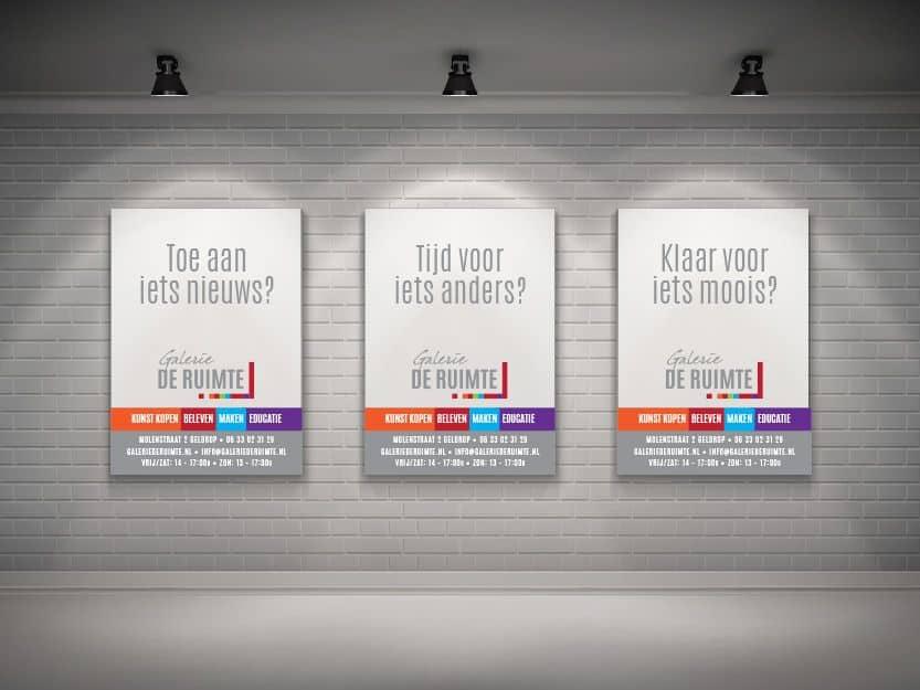 Kneh advertentiecampagne galerie de ruimte